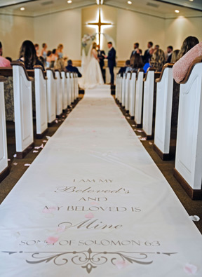 Wedding Aisle Runners Affordable Personalized Real Fabric Runners